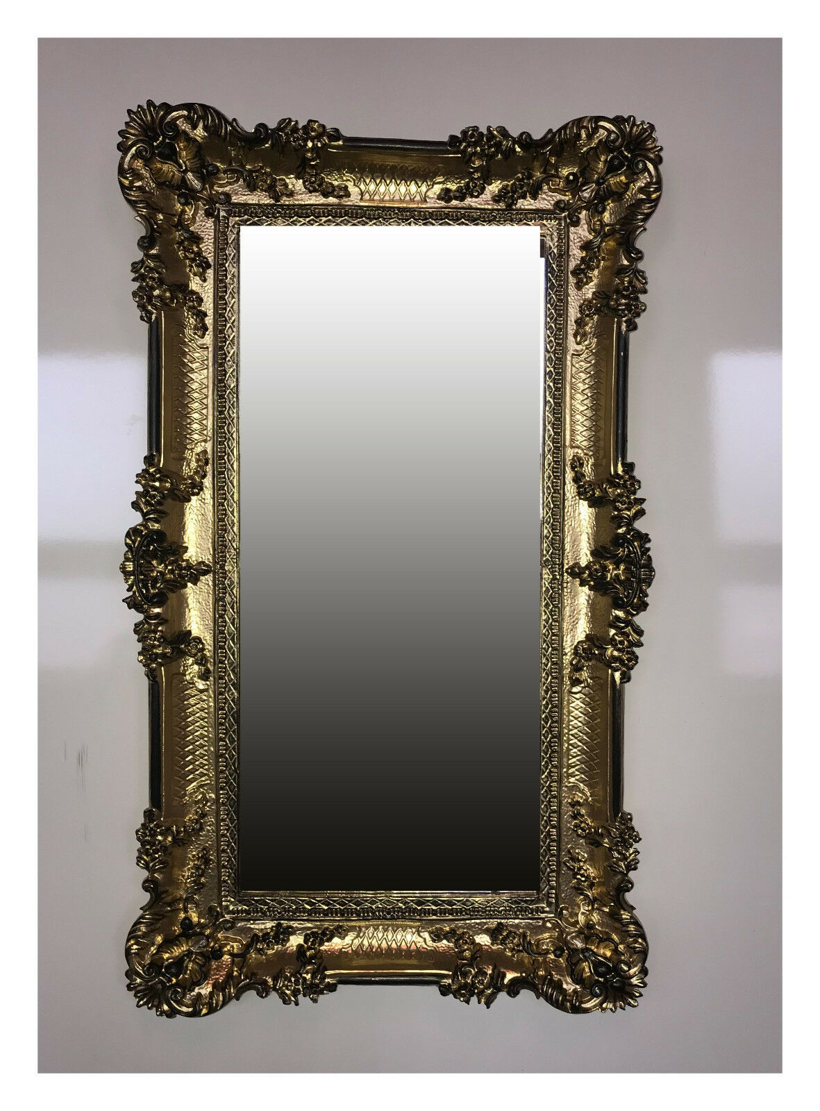 Details About Large Baroque Wall Mirror Antiquity Ornamentation Gold Black 96x57