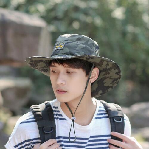 Sun UV Protective Bucket Hat Cap Bonnie Fishing Hunting Safari Men Women Brim