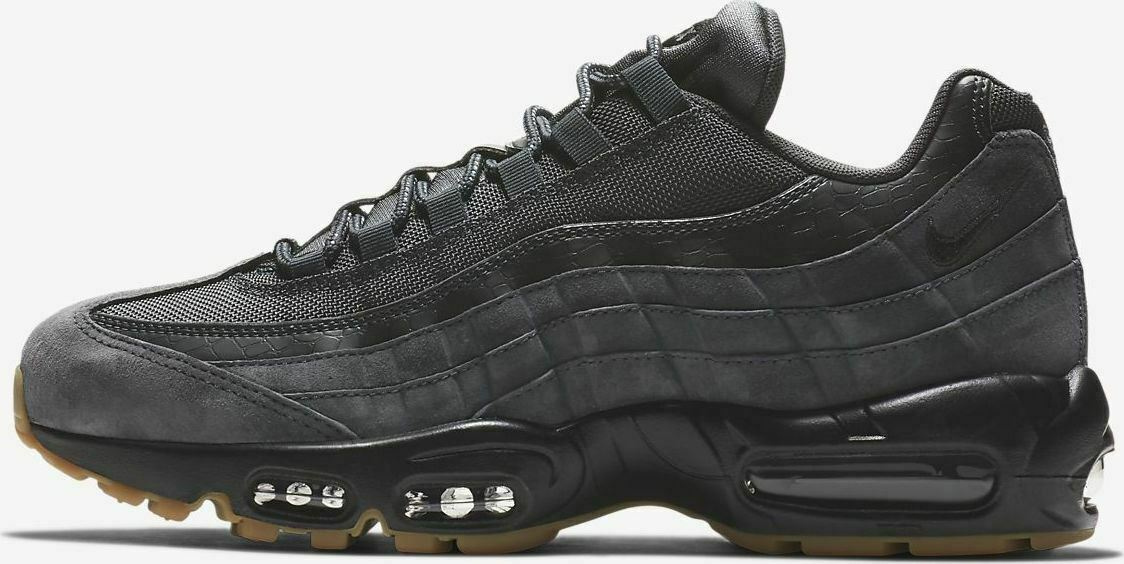 Nike Mens Air Max 95 SE Anthracite Grey Trainers AJ2018 002