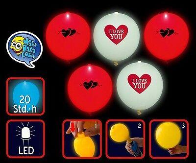 5 LED Luftballons leuchtend Geburtstag Hochzeit Party Deko Club Licht Ballons
