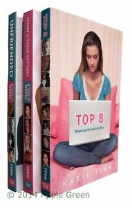 Top-8-Trilogy-3-Books-Katie-Finn-Unfriended-What-039-s-Your-Status-Teen-Kids-New