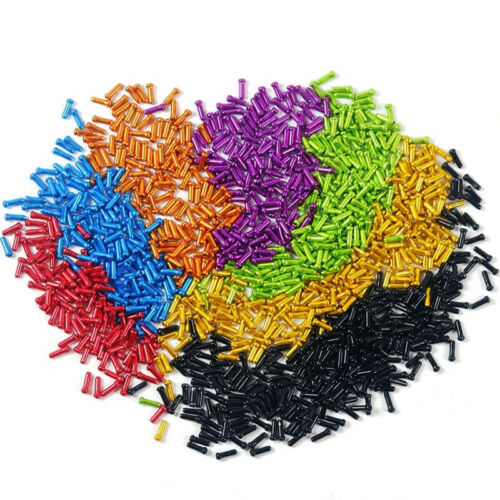 50pk MTB Road Bike Cable End Caps Aluminum Brake Shifter Inner Cable Tips 7color