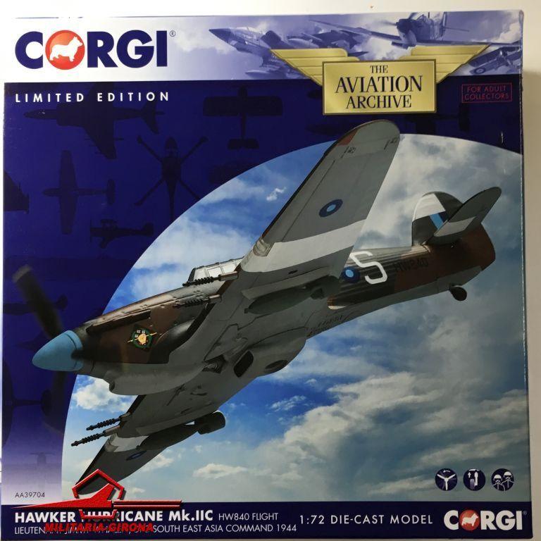 Corgi 1 72 Av.Arch. AA39704 Hawker Hurricane Mk.IIC HW840 Flight Ltn. J. Whalen