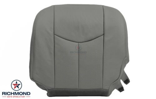 03 04 05 06 Cadillac Escalade ESV EXT-Driver Side Bottom Leather Seat Cover GRAY