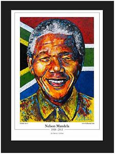 Nelson Mandela Art Print By Killian Ltd Edition Of 100  A % Going to Foundation