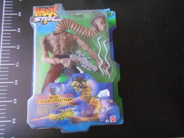 MAX STEEL Bio Constrictor Action Figure 2000 Mattel Action Figure rare Version