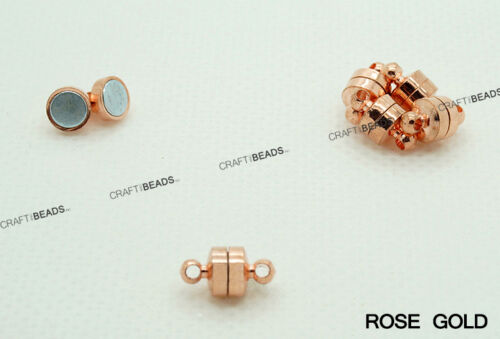 Mini Strong Button Magnetic Brass Connector Clasp Silver Rose Gold Copper Bronze