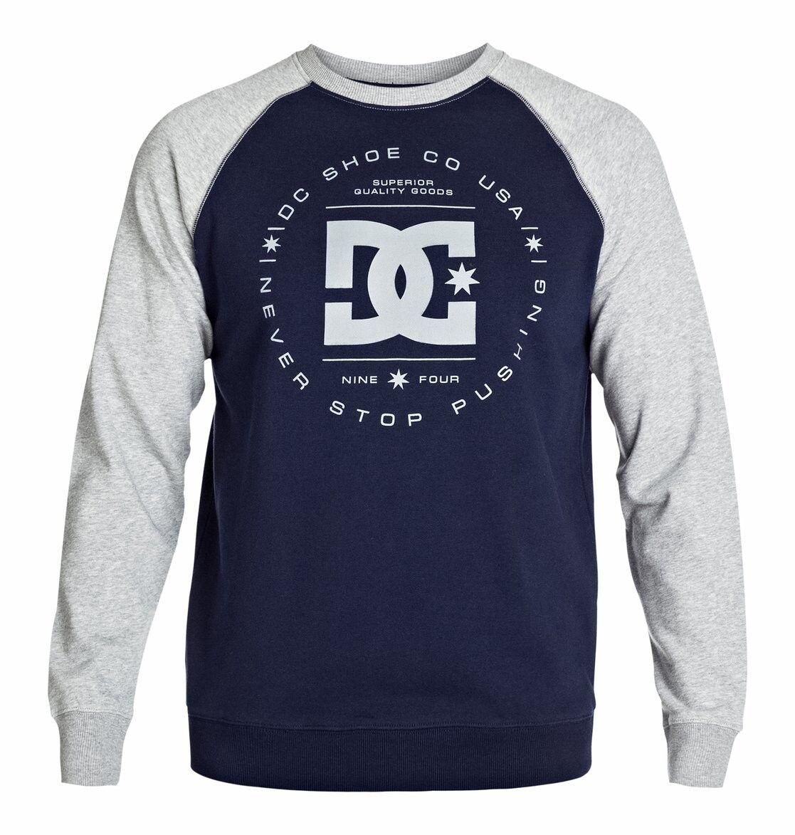 Neu DC schuhe Rebuilt Raglan Herren Sweatshirt heather grau blau