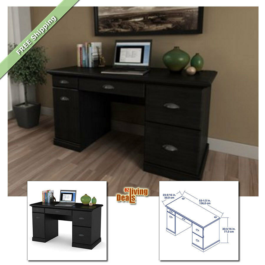 Computer Desk With Storage Wood Drawers Table Laptop Desks