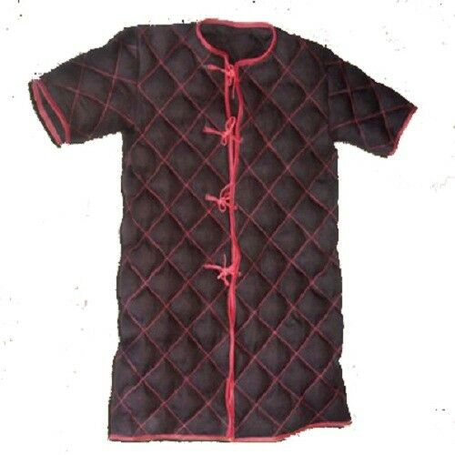 Medeival Armour Thick Padded Half Sleeve Authentic Colour Cotton Gambeson