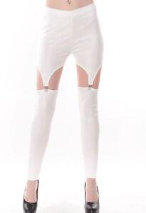 selezione migliore 48371 66e8e leggings donna pantaloni leggins legins sexy calza bianchi ...