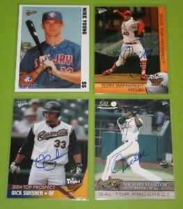 The Smoky Collection Multi Ad Sports MiLB In Person Autograph Auto Q-Z You Pick