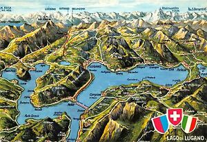B60025 Maps Cartes geographiques Lago di Lugano | eBay