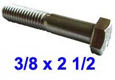 Hex Cap Screw 3//8-16 UNC x 3 1//2 A2 Sechskantschraube 3//8-16 UNC x 3 1//2 A2
