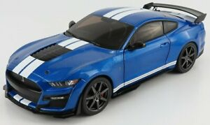 SOLIDO 1/18 FORD USA   MUSTANG GT500 FAST TRACK 2020   BLUE WHITE