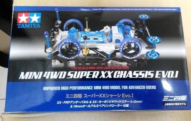 TAMIYA MINI 4WD LIMITED EDITION SUPER XX CHASSIS EVO. I 94780 JAPAN MADE RARE 1
