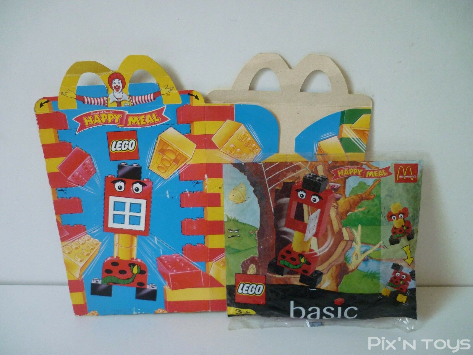 LEGO Happy Meal Mc Donald's Set Polybag  Happy Meal Box
