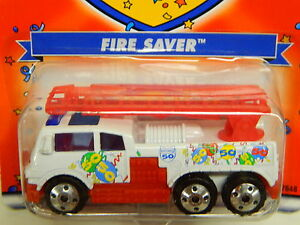 Matchbox-R-O-W-Fire-Saver-Fire-Truck-50th-Anniversary-White-amp-Red-MOFC-2002