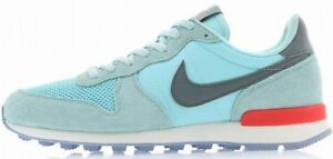 NIKE WOMENS INTERNATIONALIST Ice Blue-Grey-Red running training sneakers new