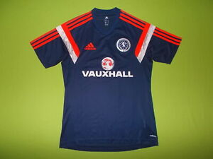Shirt SCOTLAND (S) ADIDAS 2014/2015 PERFECT !!! Trikot TRAINING Blue