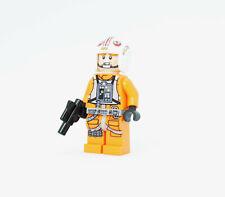 Lego Star Wars Minifigure Luke Skywalker Rebel Pilot Lightsaber 75259 75235!