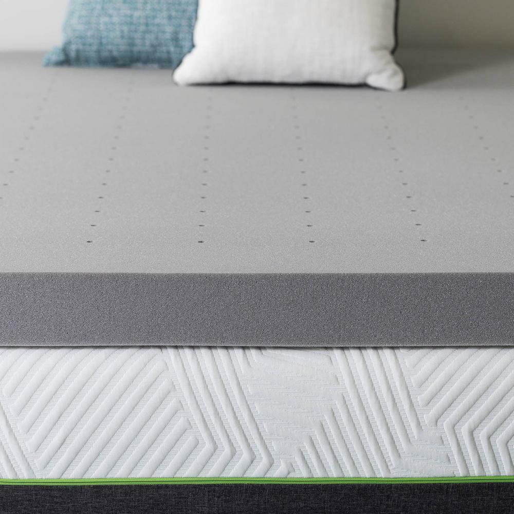 4 In. Twin Xl Bamboo Charcoal Memory Foam Mattress Topper
