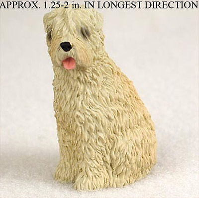 Soft Coated Wheaten Mini Resin Hand Painted Dog Figurin