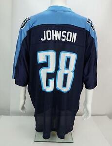 Reebok-Chris-Johnson-28-Hombre-Futbol-Tennessee-Titans-Camiseta-Azul-Negro-2XL