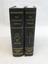 Lot 2 THE LIFE OF CHRIST & THE CATHOLIC MISSAL 1958 The Catholic Press Leather