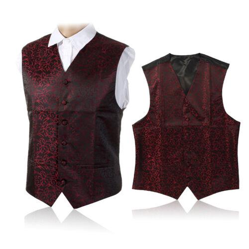 "Hot Men's Top Swirl wedding waistcoat Chest Available S-5XL UK Size 36/""-50/"""
