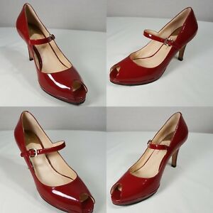 1e65b7cee7e Details about NEW Cole Haan Nikeair Red Patent Leather Mary Jane Pumps Size  7.5 B Womens Shoes