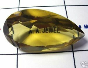 40-Ct-Yellow-Quartz-Facet-PEAR-Prasiolite-1-BEST-GEM