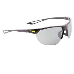 12747491fc Nike Golf Cross Trainer Sunglasses Ev0937 Gray Silver Flash Lens Black volt  Frame 67