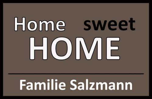Home Sweet Home Paillasson fußabstreifer Piège Saleté Cadeau Famille Amour