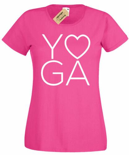 Damen Yoga Liebe T-Shirt Fitness Training Fitness Damen Top Geschenk