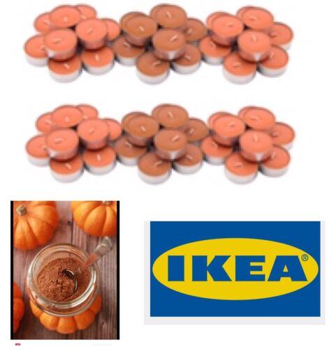 X 60 Ikea SINNLIG Pumpkin Spice Scented Tealight Candles Autumn Halloween Fall