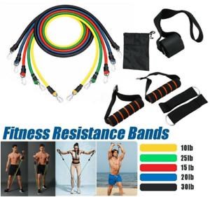 Fitness Entraînement 11 Pièces Bandes De Résistance Tube Set