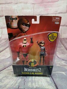 The Incredibles 2 Elastigirl /& Mr Incredible Action Figure 2-Pack