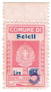 I-B-Italy-Revenue-Diritti-di-Stato-Civile-5L-on-50c-OP-Sicily
