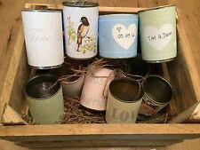 Wedding car tin can labels, set of 14 paper labels, wedding decoration