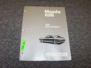 1998 Mazda 626 Sedan Electrical Wiring Diagram Manual Book ...