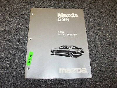 1998 Mazda 626 Sedan Electrical Wiring Diagram Manual Book ...