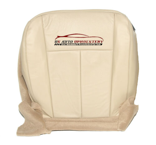 2011 Ford Expedition Driver Side Bottom Perforated Leather Seat Cover Tan
