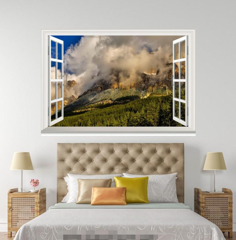 3D Weiß Mist 4077 Open Windows WallPaper Murals Wall Print Decal Deco AJ Summer