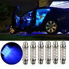 42mm 8 LED Blue Car Vehicle Interior Light Dome Festoon Reading Lamp Bulb