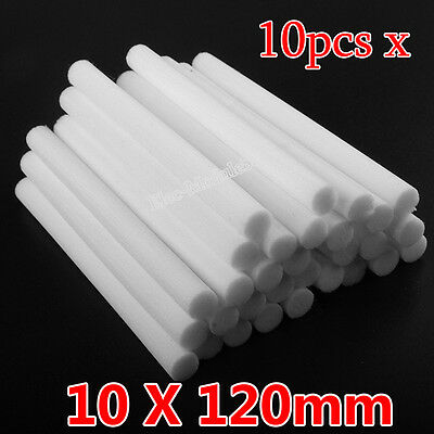 10X Replacement Sponges Refill Stick Filter For Car Humidifier Diffuser 10X120mm