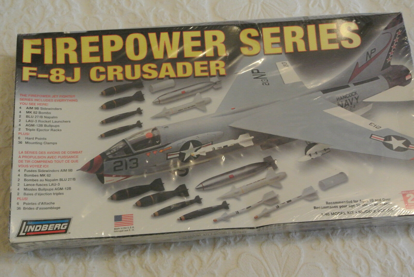 LINDBERG 1 48 scale  kit -  -  LTV  F-8J CRUSADER
