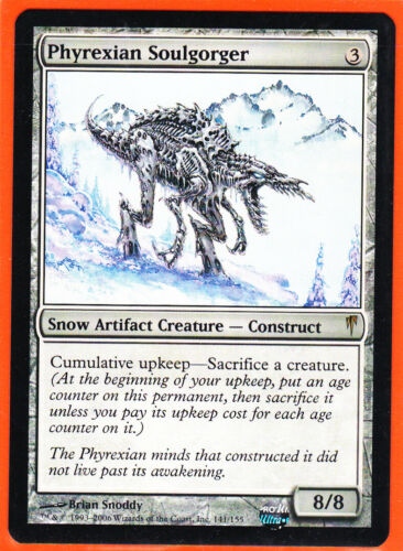 MTG  Coldsnap Rare card  1 x  PHYREXIAN SOULGORGER Never Played