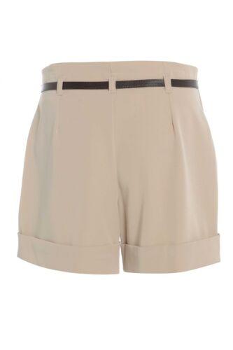 grigio donna cintura in vita alta shorts hotpants Taglie 8-14 Linea donna nuovo nero