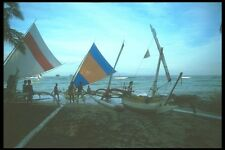 083008 Outrigger Canoes Candidasa Beach A4 Photo Print